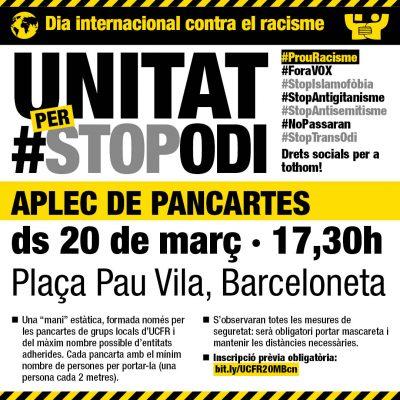 Convocatòria concentració Dia Internacional contra el racisme
