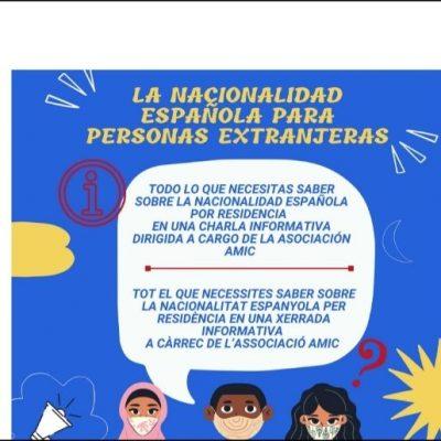 Charla informativa sobre la nacionalidad españolam para personas extranjeras